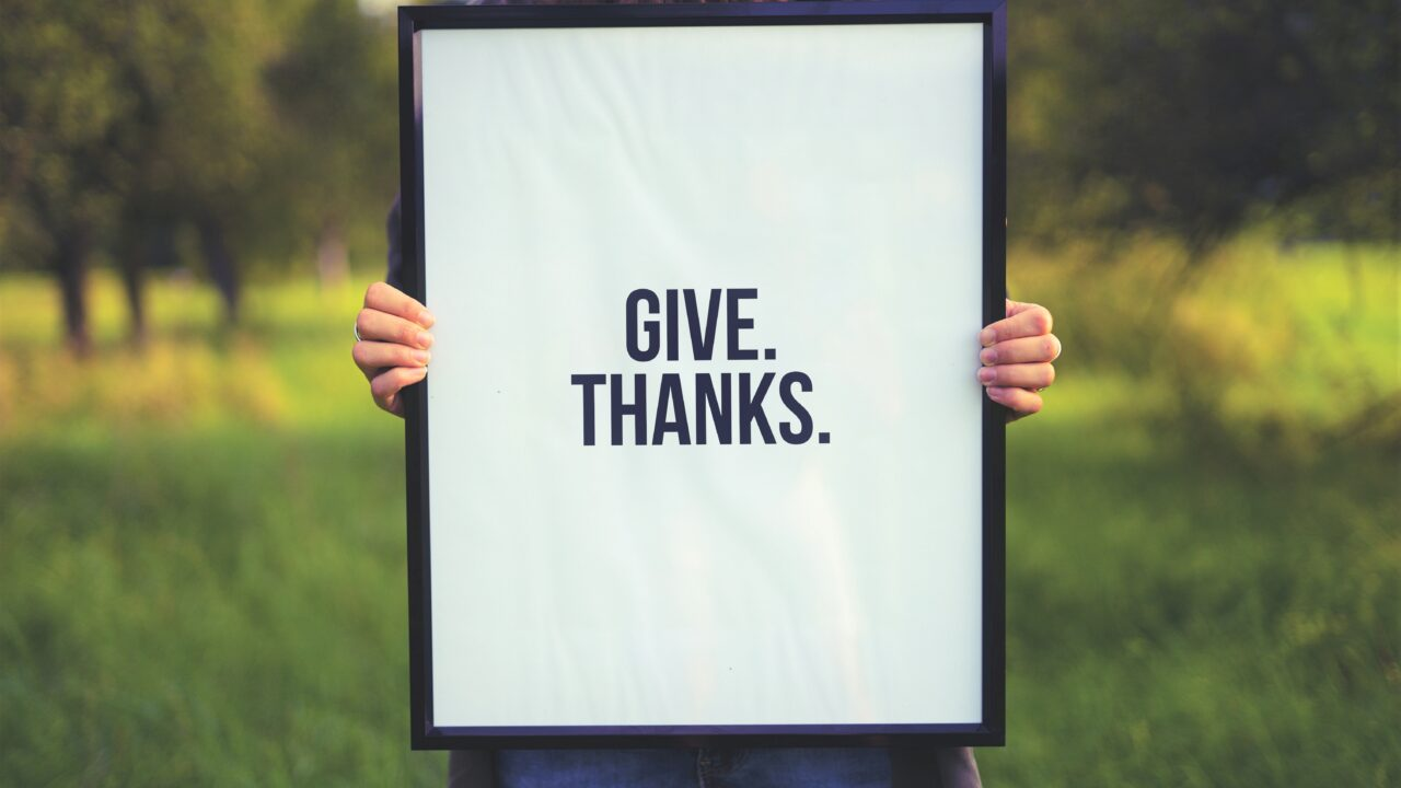 感謝を伝える